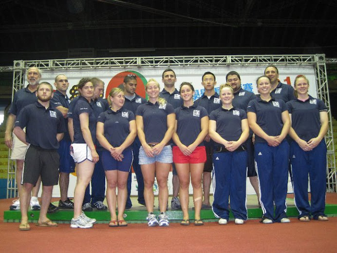 Team USA with Risto donated gear at 2010 University World Championships