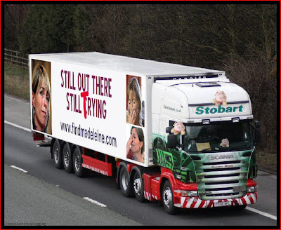 Official Find Madeleine FB page takes over the Eddie Stobart page Crying