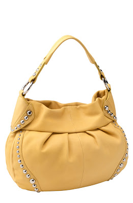 B Makowsky Handbags Studded Soft Pleated Hobo