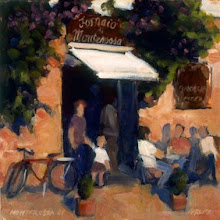 Monterossa cafe 12x12 oil   Sold
