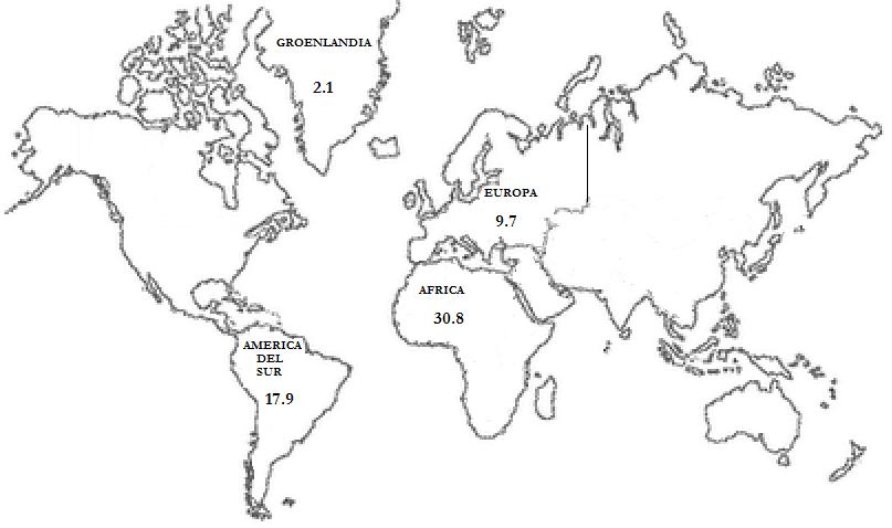 Mapa del planisferio dibujo con nombres - Imagui