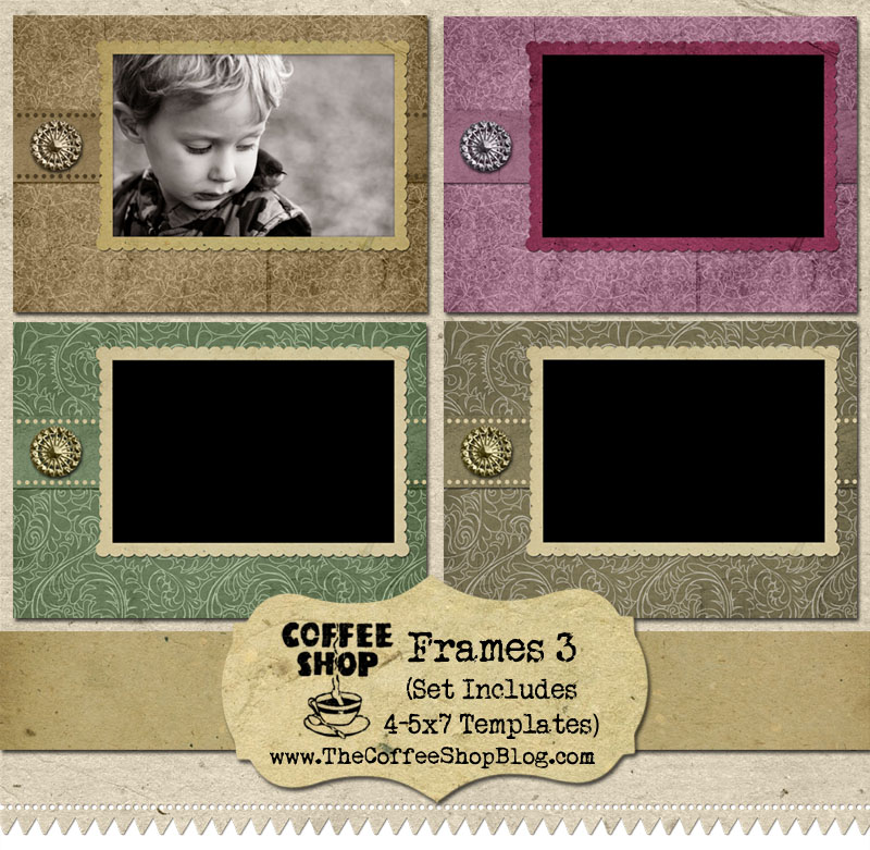 The CoffeeShop Blog: CoffeeShop Frames 3 {5x7 Card Templates} and ...