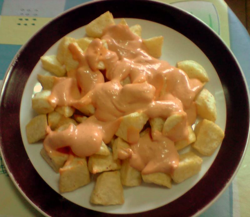 La cocina de osyana salsa de patatas bravas - Salsa para bogavante cocido ...