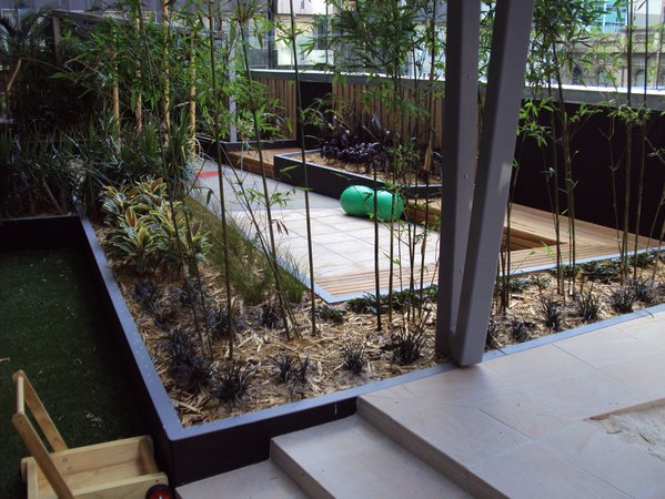 Backyard Sand Play Area : It is amazing what adding plantings and natural elements both in and