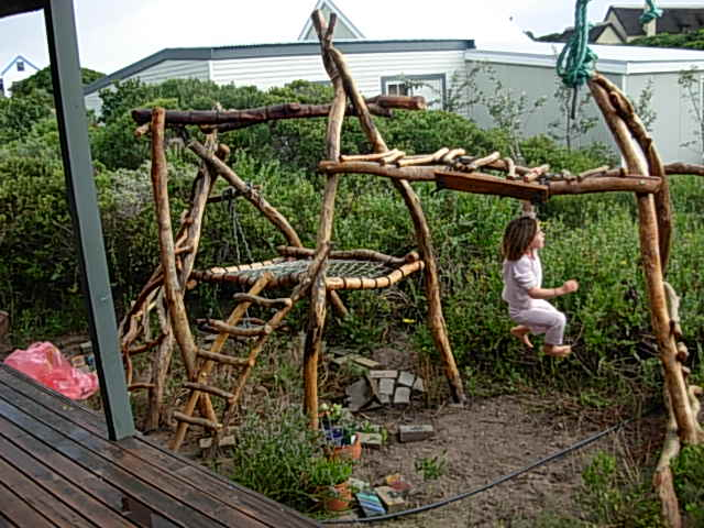 Let the children play organic playground equipment for Diy jungle gym ideas