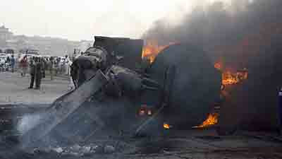 tanker accident ibadan burnt alive