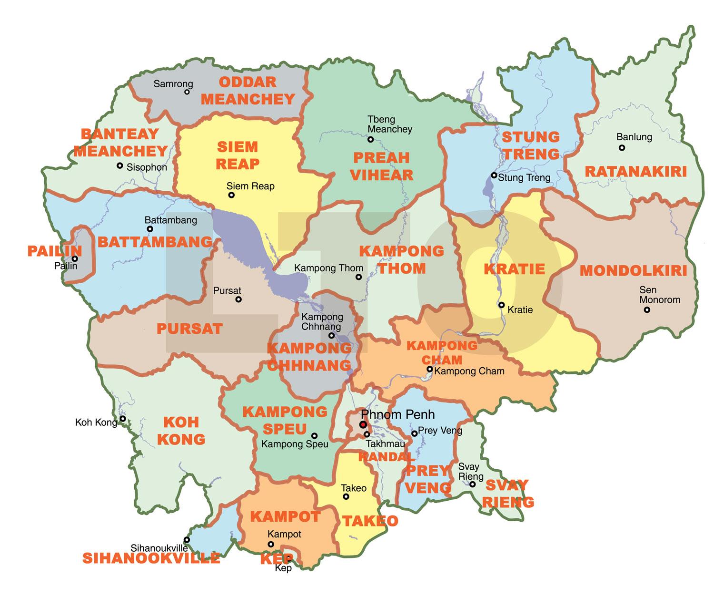 Cambodia: LTO Cambodia: Maps