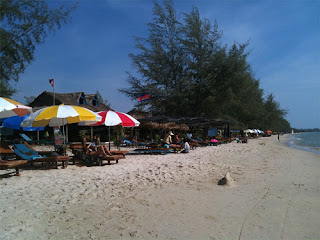 Umbrellas on Otres Beach Sihanoukville