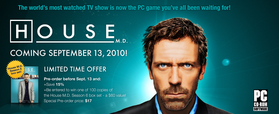 house md season 6. win a House DVD Season 6