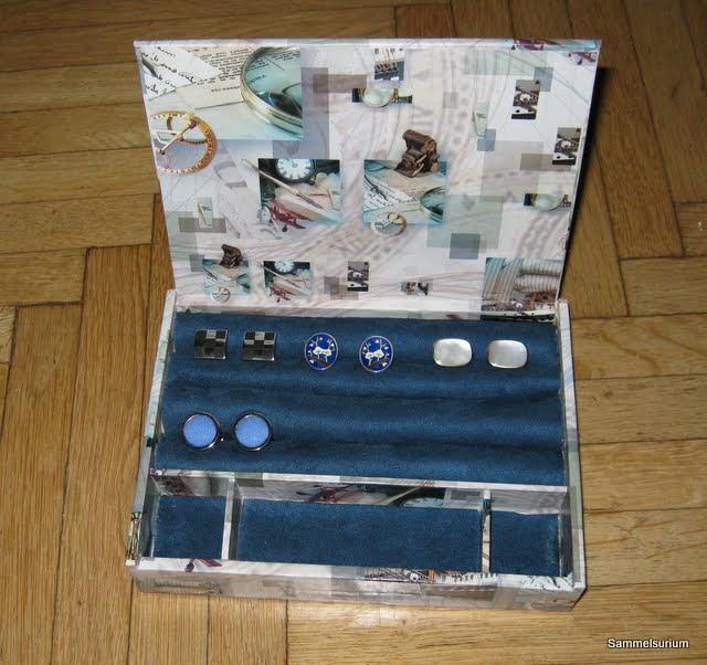 sammelsurium j ger und sammler 2 0 eine box f r manschettenkn pfen im eigenbau. Black Bedroom Furniture Sets. Home Design Ideas