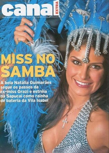 A Rainha Natália Guimarães é capa do Jornal EXTRA! em ritmo de carnaval!