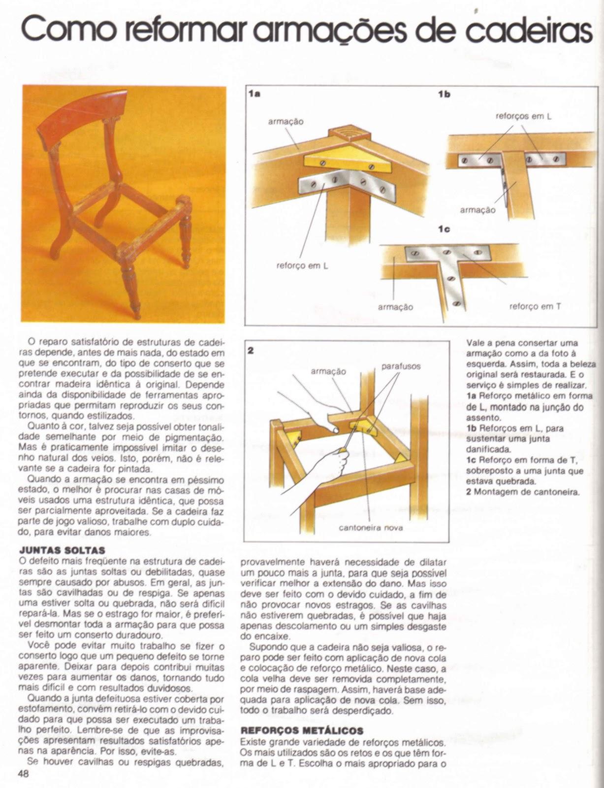 Mundo da Luci: Como Reformar Armações de Cadeiras Passo a Passo #B98512 1227x1600