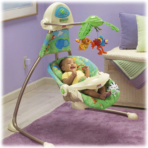 fisher price rainforest swing how to change seat position