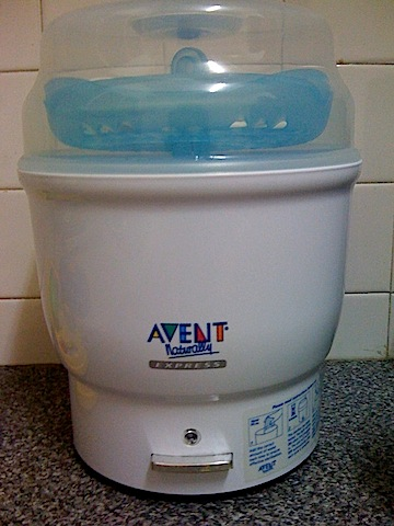 how to use avent steam sterilizer