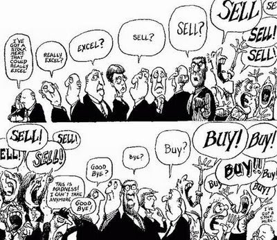 stock market. stock market crash cartoon