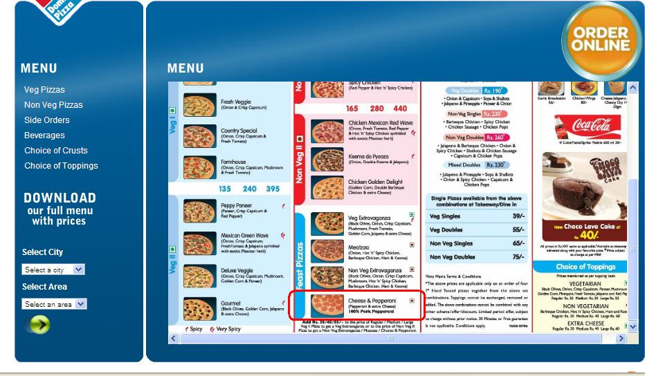 "Results for "" Dominos Pizza Riyadh Menu """