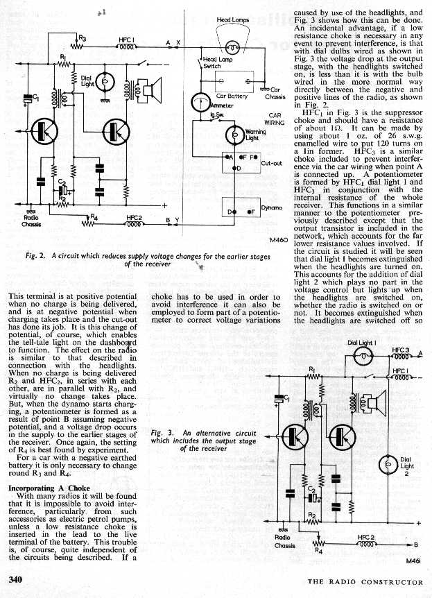 the radio builder  transistor stabalization