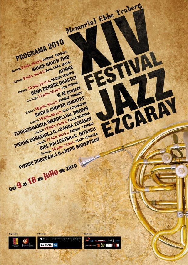 Cartel XIV Festival Jazz Ezcaray 2010