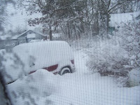 truck buried in snow
