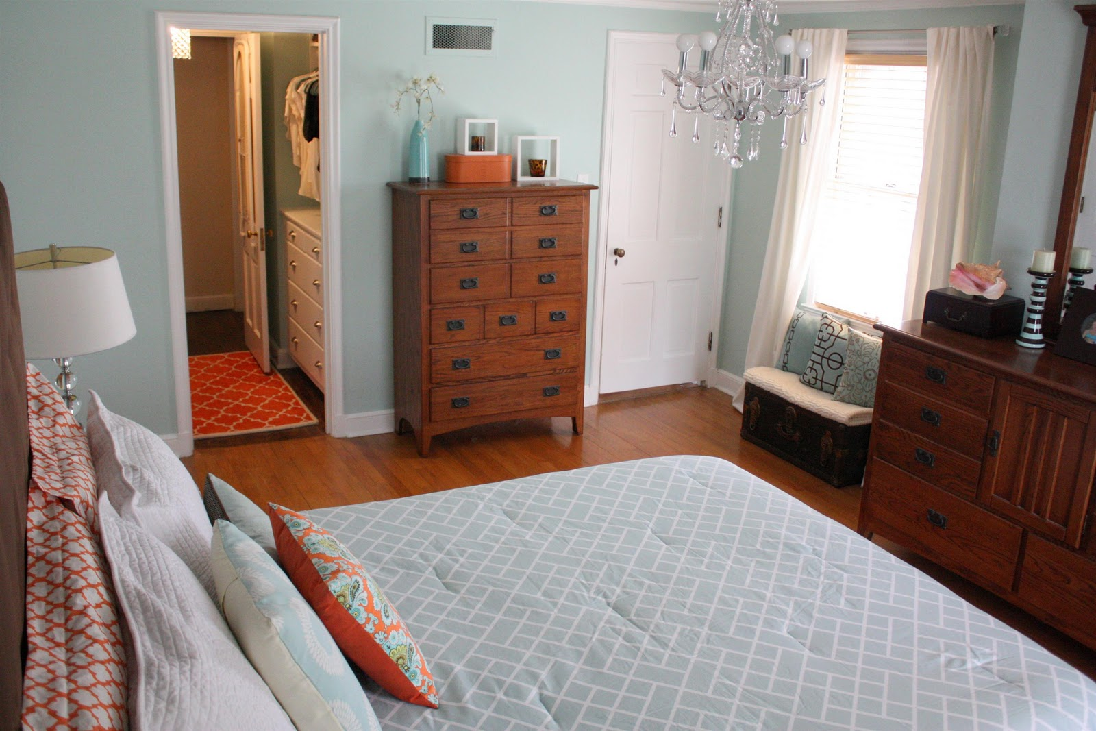 Russet street reno master bedroom today for Bedroom with attached bathroom designs