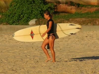 Bondi Beach girl surf