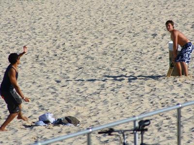 Bondi Beach beach cricket