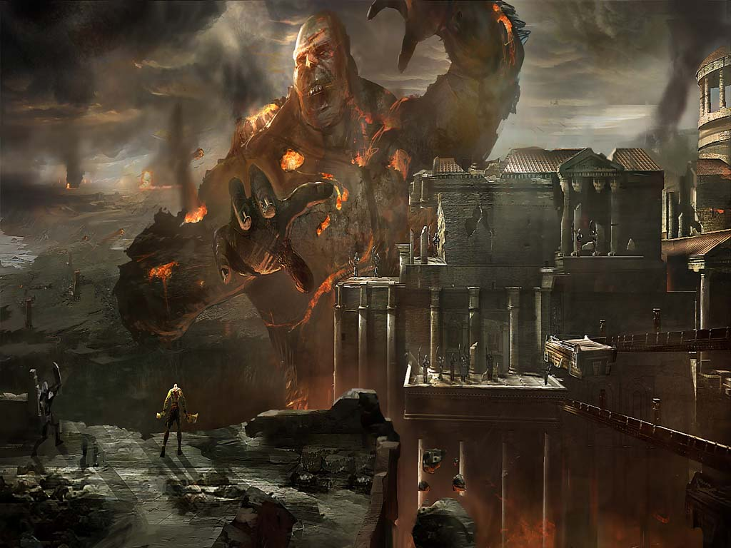 God of war iii wallpapers for God of war 3 jardines del olimpo