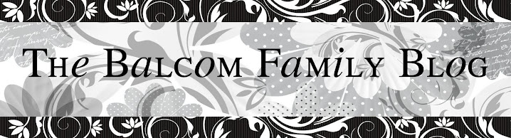 The Balcom Family Blog