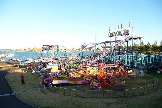 Aquí una vista de todo el parque de diversiones donde trabajo