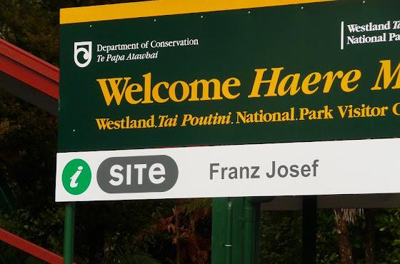 El iSite de Franz Josef por la Isla Sur