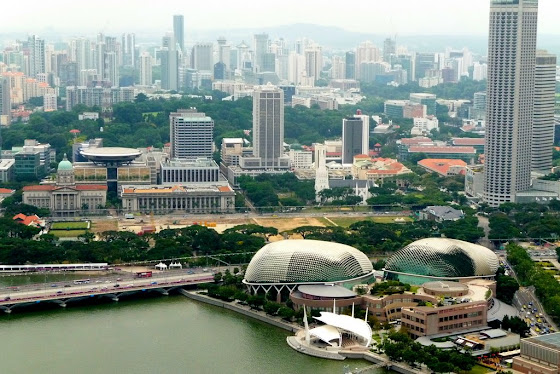 Singapur desde el Marina Bay Sand Hotel