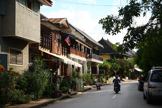 Las calles de Luang Prabang en Laos