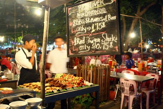 Carritos de comida en Siem Reap
