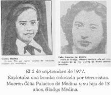 GLADIS MEDINA, 13 AÑOS Y SU MADRE, ASESINADAS POR TERRORISTAS,ELLAS TAMBIÉN PIDEN JUSTICIA ¡¡¡