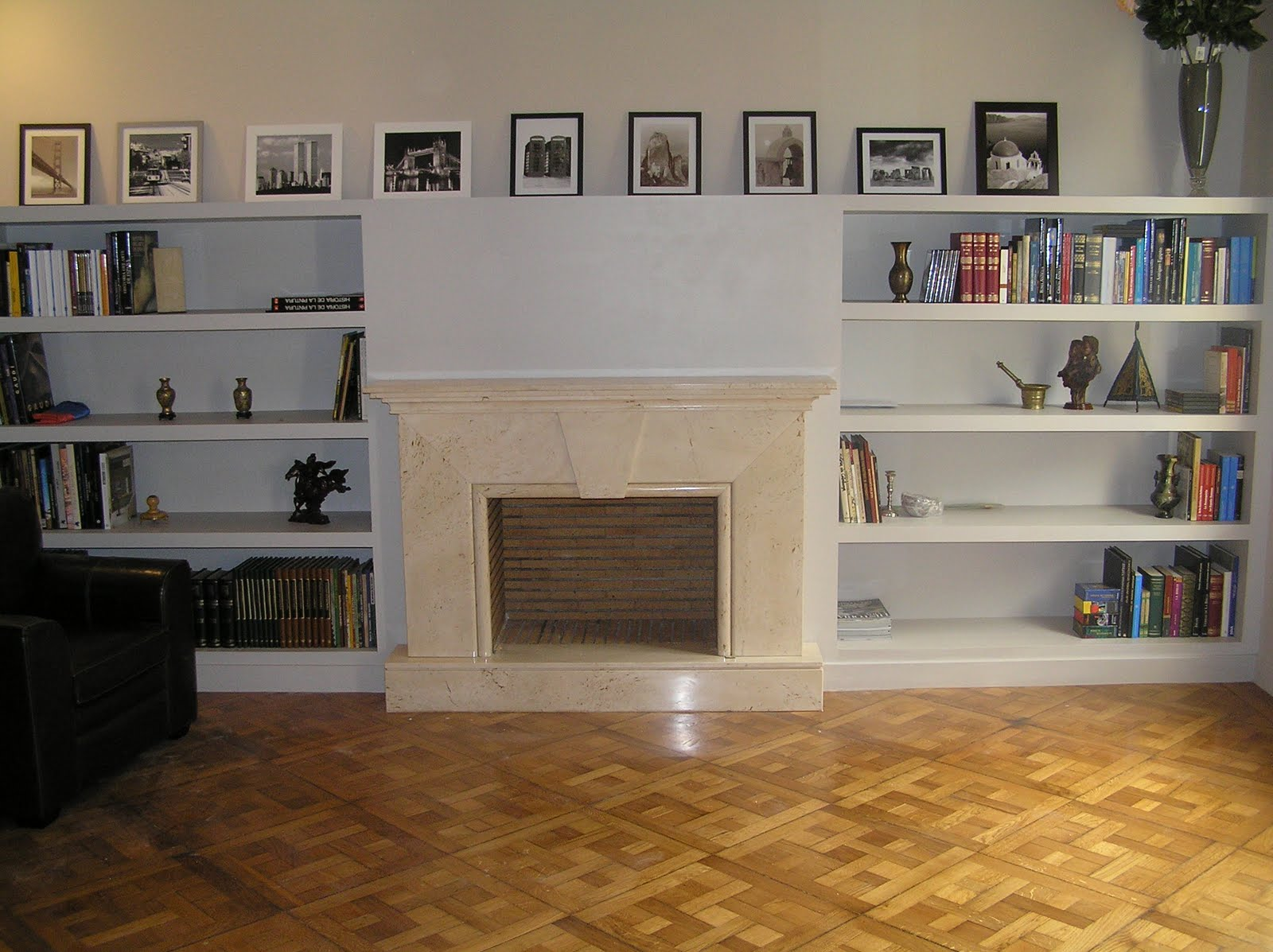 Reformas barcelona stanley 698 372 093 mueble de pladur - Decoracion salon con chimenea ...