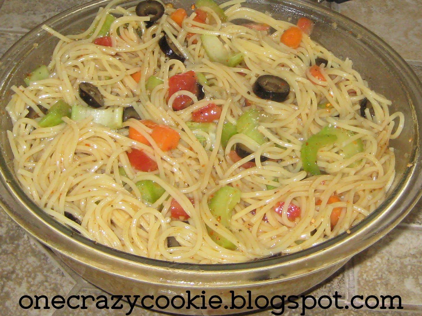 One crazy cookie spaghetti salad
