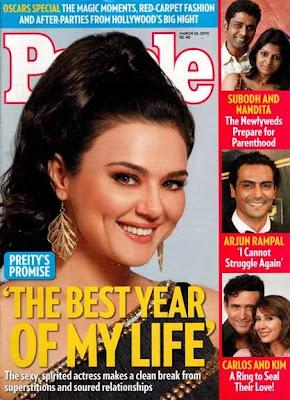 Preity Zinta on People Magazine