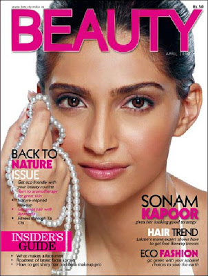 Sonam kapoor on the cover of Beauty Magazine