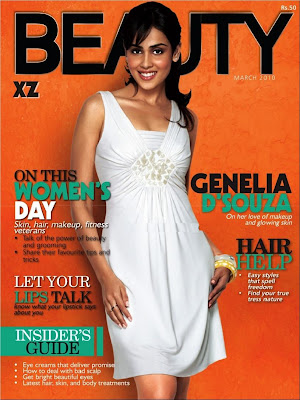 Genelia D'souza on the cover of Beauty Magazine