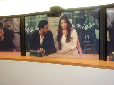Aishwarya Rai Bachchan at the Raavan Cisco Teleconference