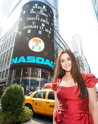 Preity Zinta Rings NASDAQ Opening Bell