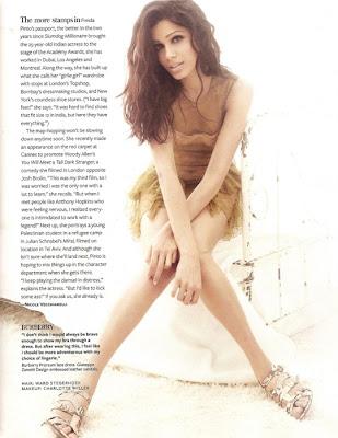 Freida Pinto InStyle Magazine