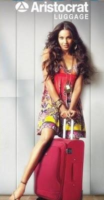 Bipasha Basu endorses Aristocrat Luggage Brand