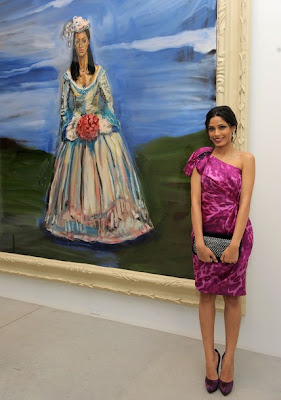 Freida Pinto at the Weinstein & Alliance