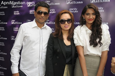 Sonam Kapoor at John Galliano Eye Wear Launch
