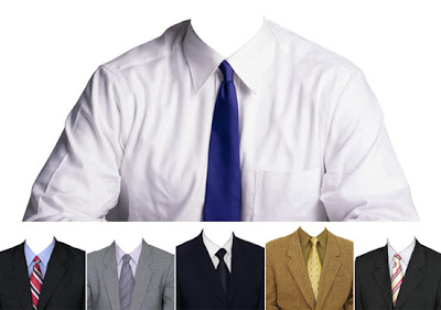 con 12 traje-corbata silueteados en formato PSD, para Photoshop ...