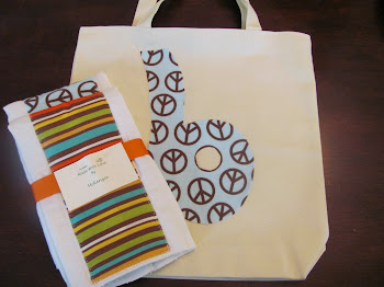Coordinating tote and burp cloths