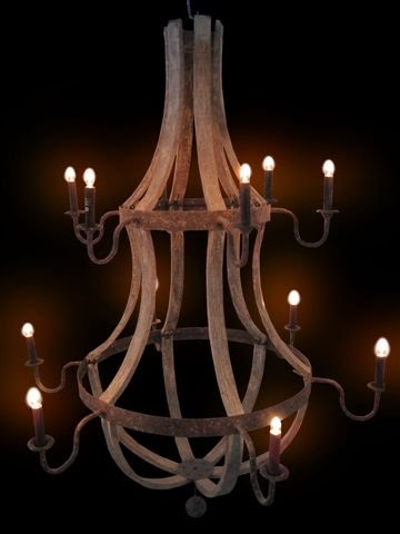 Domus X Our French Wine Barrel Chandeliers