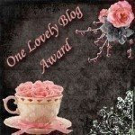 Blog award, thank you Sandy