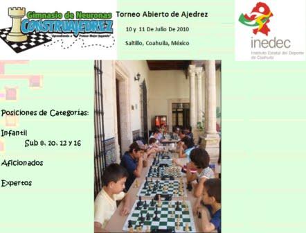 Resultados Ajedrez en Saltillo, Coahuila, México 10 y 11 de julio